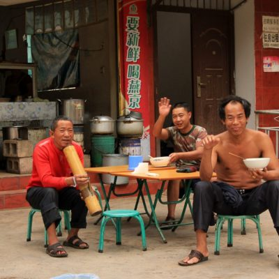 Breakfast time in Yunnan Province - China